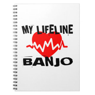 MY LIFE LINA BANJO MUSIC DESIGNS NOTEBOOK