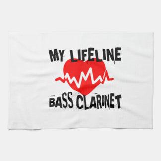 MY LIFE LINA BASS CLARINET MUSIC DESIGNS KITCHEN TOWEL