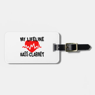 MY LIFE LINA BASS CLARINET MUSIC DESIGNS LUGGAGE TAG