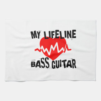 MY LIFE LINA BASS GUITAR MUSIC DESIGNS KITCHEN TOWEL
