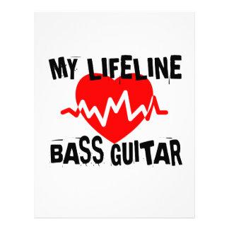 MY LIFE LINA BASS GUITAR MUSIC DESIGNS LETTERHEAD