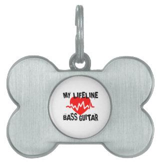 MY LIFE LINA BASS GUITAR MUSIC DESIGNS PET NAME TAG