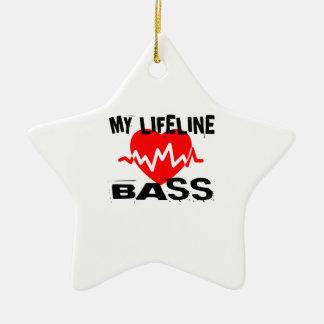 MY LIFE LINA BASS MUSIC DESIGNS CERAMIC ORNAMENT