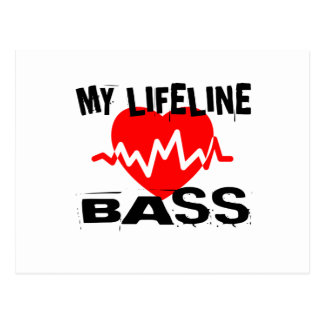 MY LIFE LINA BASS MUSIC DESIGNS POSTCARD