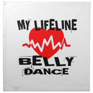 MY LIFE LINA BELLY DANCE DESIGNS NAPKIN