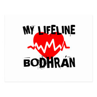 MY LIFE LINA BODHRAN MUSIC DESIGNS POSTCARD