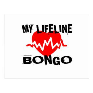 MY LIFE LINA BONGO MUSIC DESIGNS POSTCARD