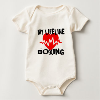 MY LIFE LINA BOXING MARTIAL ARTS DESIGNS BABY BODYSUIT