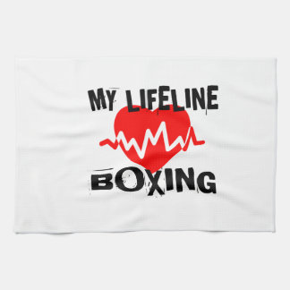 MY LIFE LINA BOXING MARTIAL ARTS DESIGNS KITCHEN TOWEL