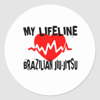 MY LIFE LINA BRAZILIAN JIU-JITSU MARTIAL ARTS DESI CLASSIC ROUND STICKER