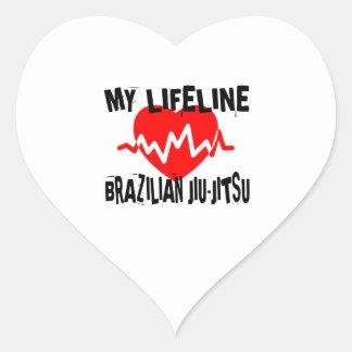 MY LIFE LINA BRAZILIAN JIU-JITSU MARTIAL ARTS DESI HEART STICKER