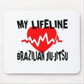 MY LIFE LINA BRAZILIAN JIU-JITSU MARTIAL ARTS DESI MOUSE PAD