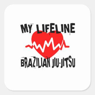 MY LIFE LINA BRAZILIAN JIU-JITSU MARTIAL ARTS DESI SQUARE STICKER