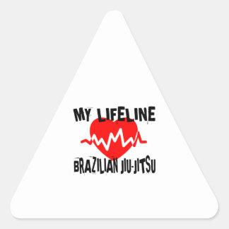 MY LIFE LINA BRAZILIAN JIU-JITSU MARTIAL ARTS DESI TRIANGLE STICKER