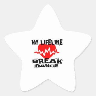 MY LIFE LINA BREAKDANCE DANCE DESIGNS STAR STICKER