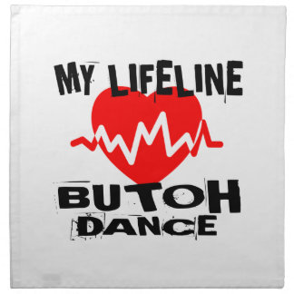MY LIFE LINA BUTOH DANCE DESIGNS NAPKIN