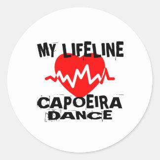 MY LIFE LINA CAPOEIRA DANCE DESIGNS CLASSIC ROUND STICKER