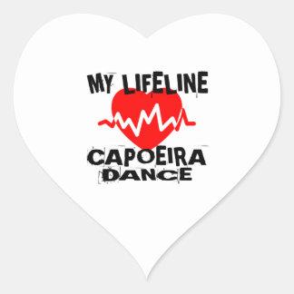 MY LIFE LINA CAPOEIRA DANCE DESIGNS HEART STICKER