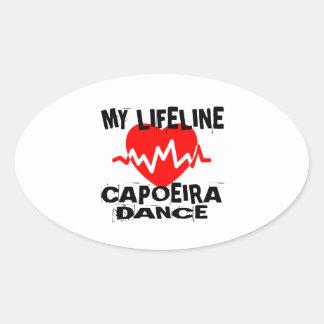 MY LIFE LINA CAPOEIRA DANCE DESIGNS OVAL STICKER