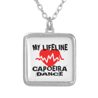MY LIFE LINA CAPOEIRA DANCE DESIGNS SILVER PLATED NECKLACE