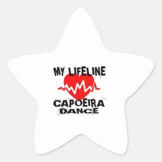 MY LIFE LINA CAPOEIRA DANCE DESIGNS STAR STICKER