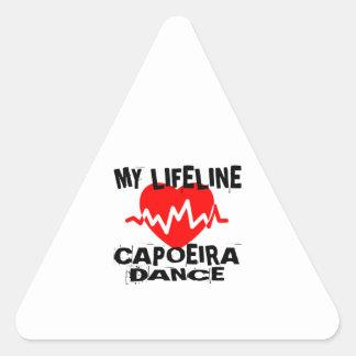 MY LIFE LINA CAPOEIRA DANCE DESIGNS TRIANGLE STICKER