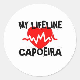 MY LIFE LINA CAPOEIRA MARTIAL ARTS DESIGNS CLASSIC ROUND STICKER