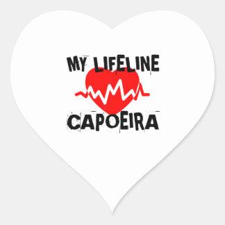MY LIFE LINA CAPOEIRA MARTIAL ARTS DESIGNS HEART STICKER