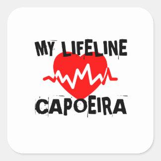 MY LIFE LINA CAPOEIRA MARTIAL ARTS DESIGNS SQUARE STICKER