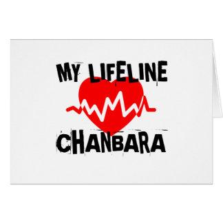 MY LIFE LINA CHANBARA MARTIAL ARTS DESIGNS CARD