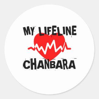 MY LIFE LINA CHANBARA MARTIAL ARTS DESIGNS CLASSIC ROUND STICKER