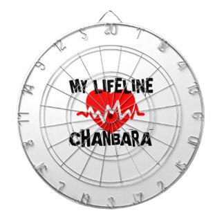 MY LIFE LINA CHANBARA MARTIAL ARTS DESIGNS DARTBOARD
