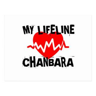 MY LIFE LINA CHANBARA MARTIAL ARTS DESIGNS POSTCARD