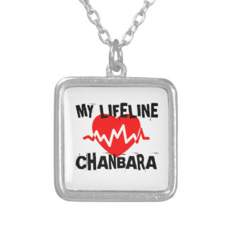 MY LIFE LINA CHANBARA MARTIAL ARTS DESIGNS SILVER PLATED NECKLACE