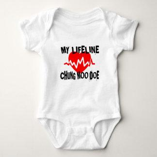 MY LIFE LINA CHUNG MOO DOE MARTIAL ARTS DESIGNS BABY BODYSUIT