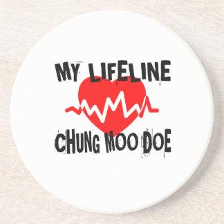 MY LIFE LINA CHUNG MOO DOE MARTIAL ARTS DESIGNS COASTER