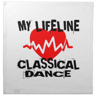 MY LIFE LINA CLASSICAL DANCE DANCE DESIGNS NAPKIN