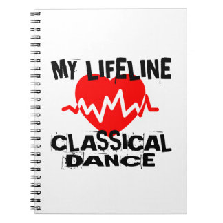MY LIFE LINA CLASSICAL DANCE DANCE DESIGNS SPIRAL NOTEBOOK