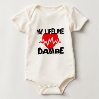 MY LIFE LINA DAMBE MARTIAL ARTS DESIGNS BABY BODYSUIT
