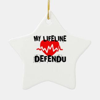 MY LIFE LINA DEFENDU MARTIAL ARTS DESIGNS CERAMIC ORNAMENT