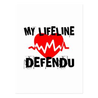 MY LIFE LINA DEFENDU MARTIAL ARTS DESIGNS POSTCARD