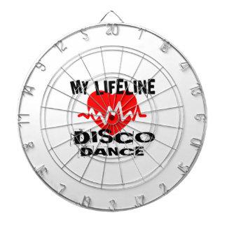 MY LIFE LINA DISCO DANCE DESIGNS DARTBOARD