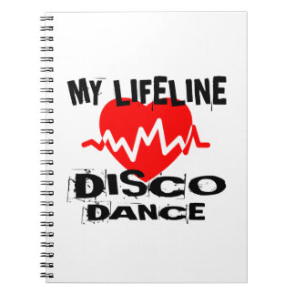 MY LIFE LINA DISCO DANCE DESIGNS NOTEBOOK