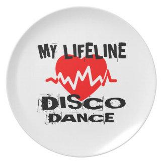 MY LIFE LINA DISCO DANCE DESIGNS PLATE