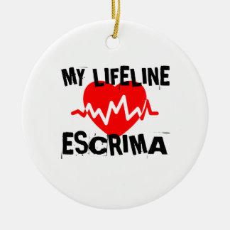 MY LIFE LINA ESCRIMA MARTIAL ARTS DESIGNS CERAMIC ORNAMENT