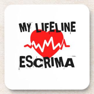 MY LIFE LINA ESCRIMA MARTIAL ARTS DESIGNS COASTER