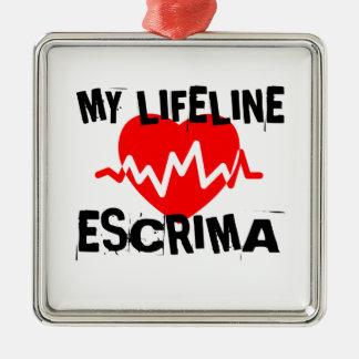 MY LIFE LINA ESCRIMA MARTIAL ARTS DESIGNS METAL ORNAMENT