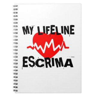 MY LIFE LINA ESCRIMA MARTIAL ARTS DESIGNS NOTEBOOK