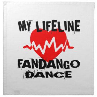 MY LIFE LINA FANDANGO DANCE DESIGNS NAPKIN