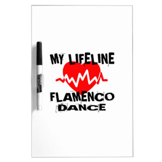 MY LIFE LINA FLAMENCO DANCE DESIGNS DRY ERASE BOARD
